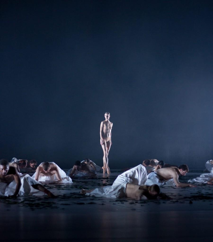 """5. S.Gileva and ensemble, """"COW"""" by A.Ekman, Semperoper Ballet © T.M.Rives"""