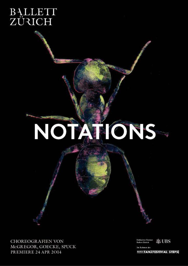 """26. Poster for """"Notations"""", Ballet Zurich © Ballet Zurich 2016"""
