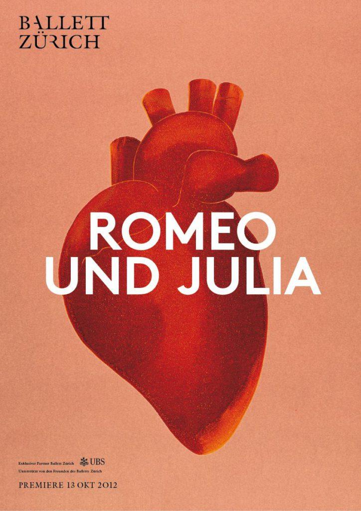 """25. Poster for """"Romeo and Juliet"""", Ballet Zurich © Ballet Zurich 2016"""