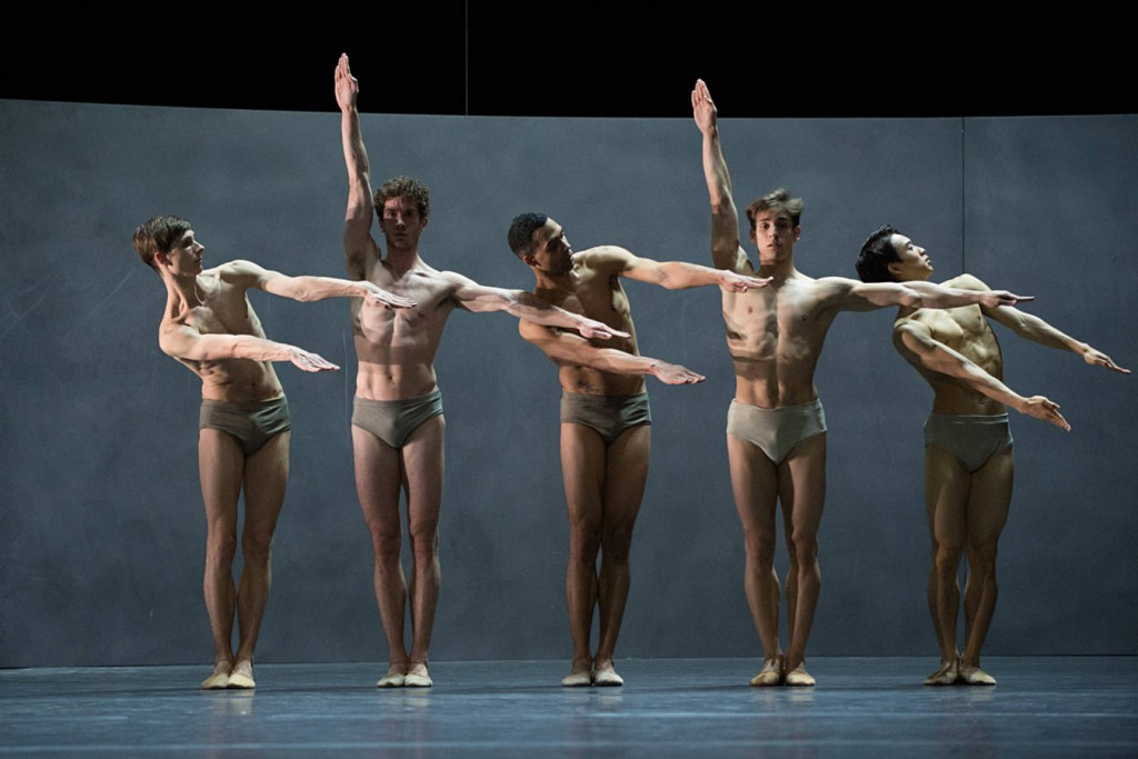 1. Jan Casier, William Moore, Manuel Renard, Denis Vieira and Surimu Fukushi, Kairos by Wayne McGregor, Ballet Zurich