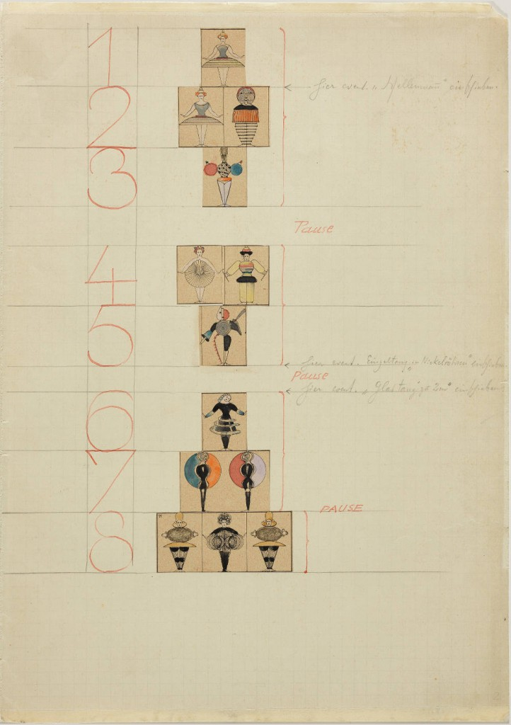 19. Oskar Schlemmer, Sketches for the Triadic Ballet, 1927, copyright Academy of the Arts, Berlin