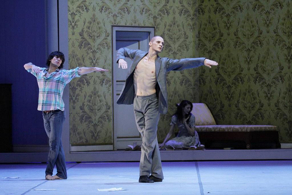 3. Alexandr Trusch, Edvin Revazov and Hélène Bouchet, Tatiana by J.Neumeier, Hamburg Ballet 2014