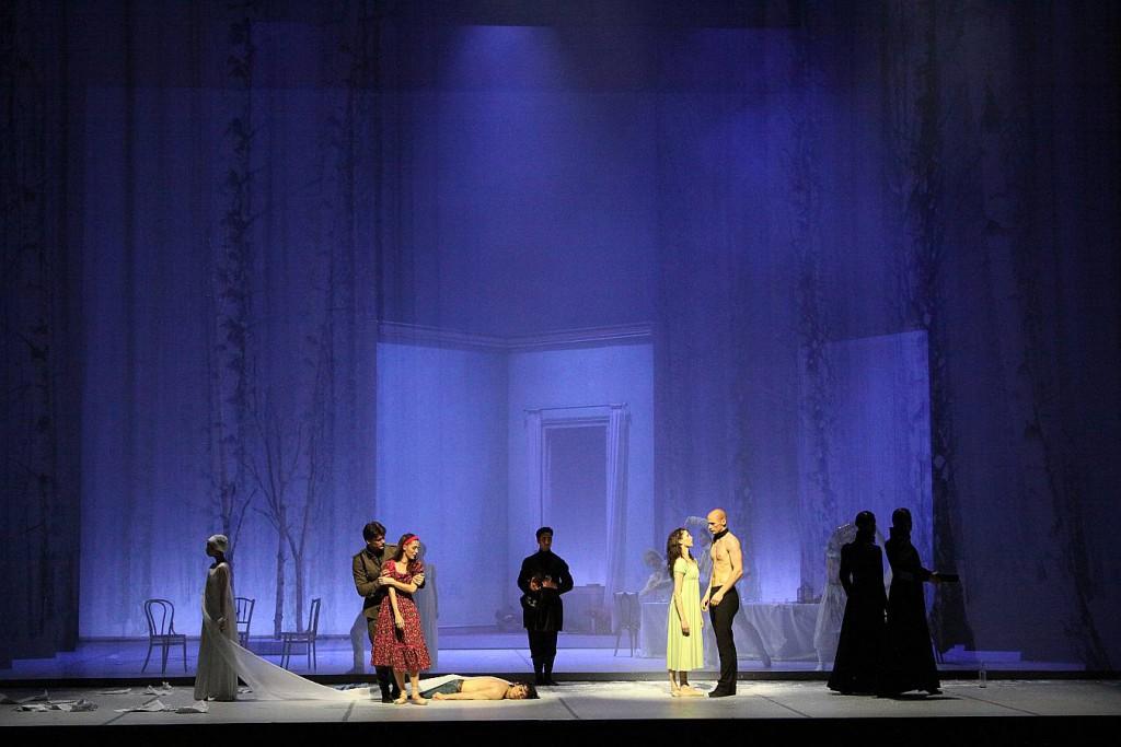 4. Leslie Heylmann, Alexandr Trusch, Hélène Bouchet, Edvin Revazov and ensemble, Tatiana by J.Neumeier, Hamburg Ballet 2014