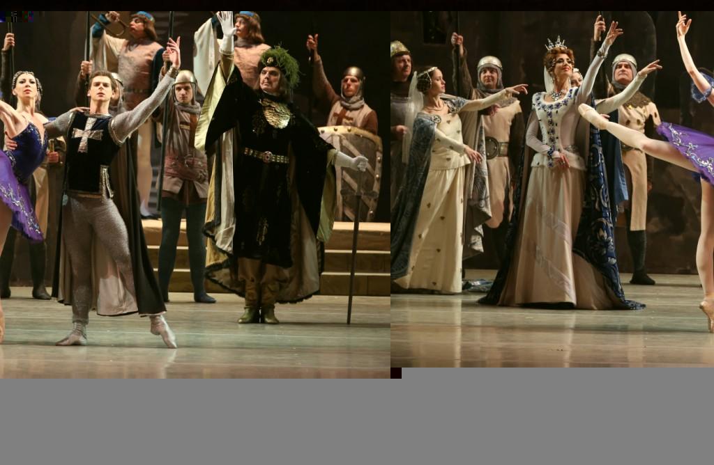 """5. E.Bazhenove, V.Tereshkina, V.Shklyarov and ensemble, """"Raymonda"""" by M.Petipa in the version of K.Sergeyev and with choreographic fragments by F.Lopuchov, Maryinsky Ballet © N.Razina 2014"""