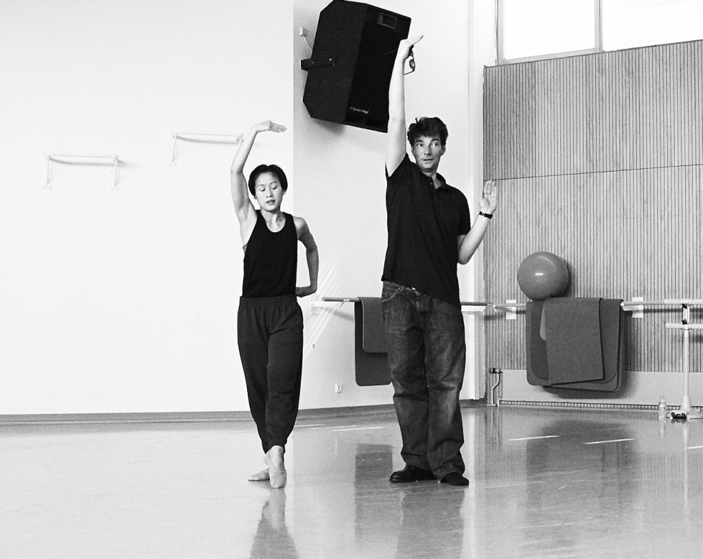 "4. W.S.Chan and M.Goecke, rehearsal of ""Lonesome George"", Ballett am Rhein © F.Jennewein, Stuttgart 2015"