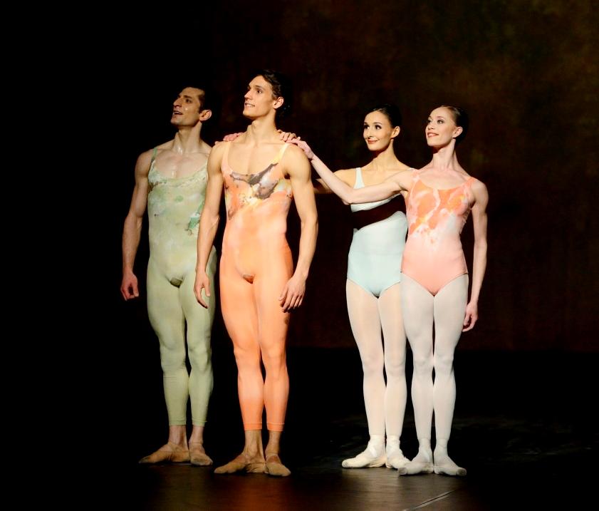 """6. A.Zazyan, D.Camargo, M.Simon and A.Osadcenko, """"Initials R.B.M.E."""" by J.Cranko, Stuttgart Ballet © Stuttgart Ballet 2015"""