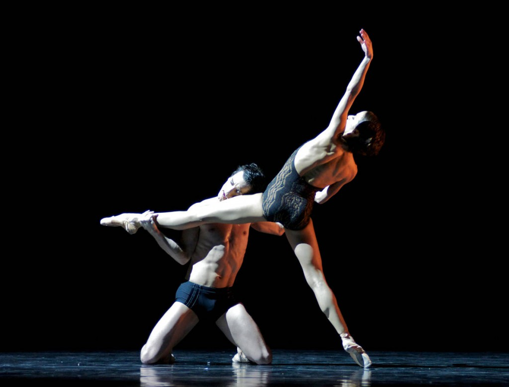 """7. R.Queiroz and A.Kuyler, """"Sibelius for B."""" by T.Bordin, State Ballet Karlsruhe © J.Klenk 2014"""