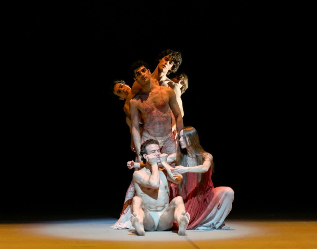 "1. C.Jung, A.Laudere, A.Riabko, K.Azatyan, M.Jubete and A.Martínez, ""Peer Gynt"" by J.Neumeier, Hamburg Ballet © H.Badekow 2015"