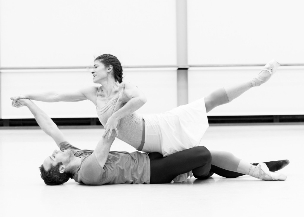 "10. C.Richardson and F.Voranger, rehearsal of ""Tristan + Isolde"" by D.Dawson, Semperoper Ballet © I.Whalen 2015"