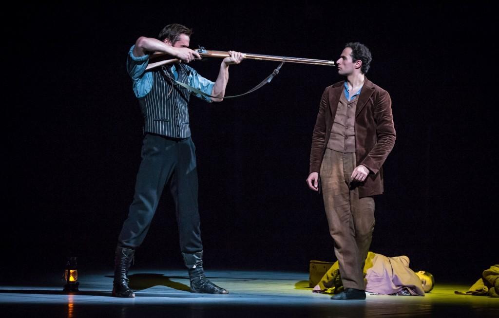 "11. D.Semionov and A.Mehrabyan, ""The Piano"" by J.Bubeníček, Les Ballets Bubeníček 2015 © S.Ballone"