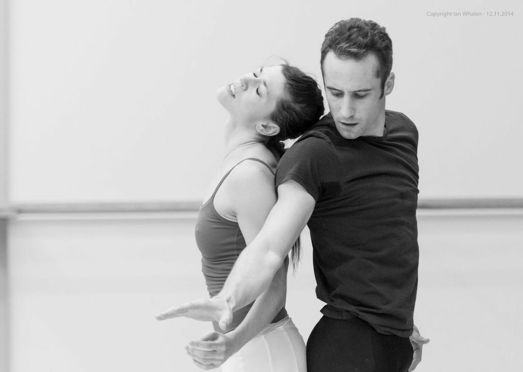 "11. C.Richardson and F.Voranger, rehearsal of ""Tristan + Isolde"" by D.Dawson, Semperoper Ballet © I.Whalen 2015"