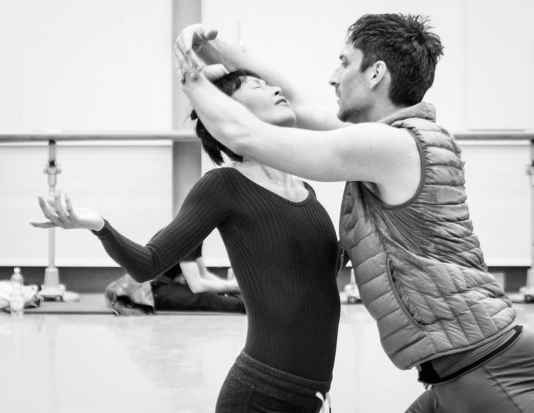 "3. Y.Takeshima and R.Coumes-Marquet, rehearsal of ""Giselle"" by D.Dawson, Semperoper Ballet © I.Whalen 2015"