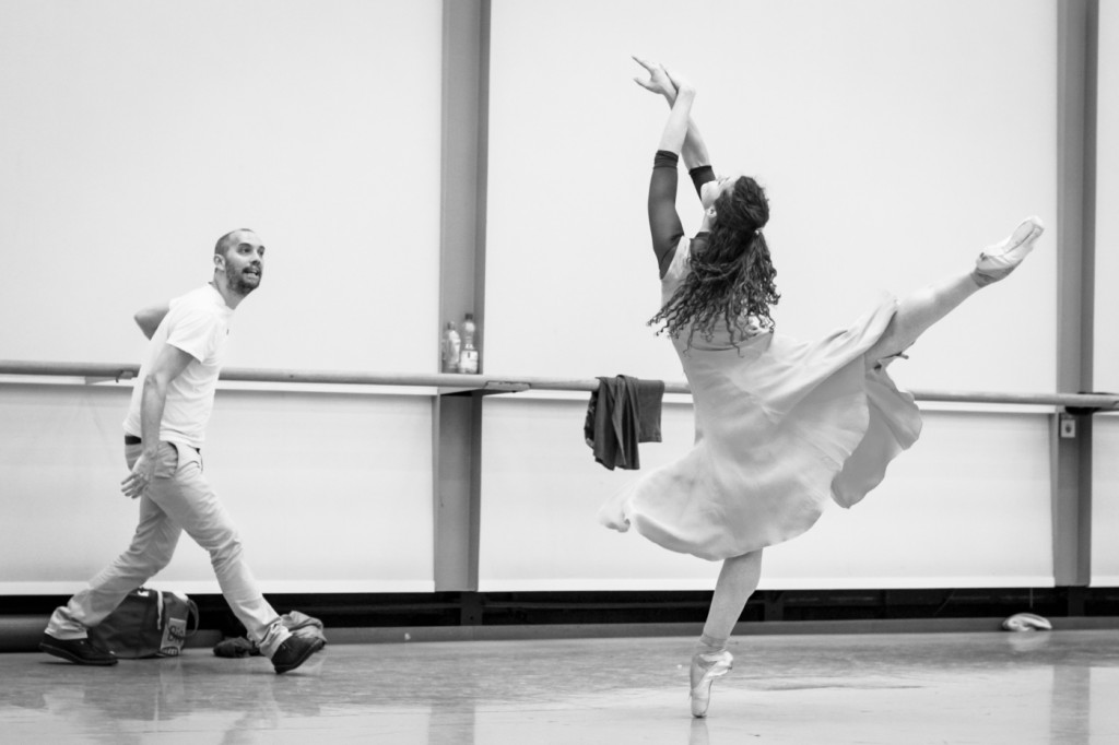 "6. D.Dawson and C.Richardson rehearsing ""Giselle"" by D.Dawson, Semperoper Ballet © I.Whalen 2015"