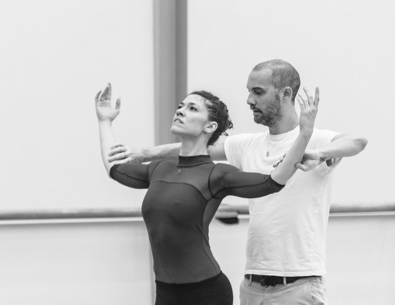 "7. C.Richardson and D.Dawson rehearsing ""Giselle"" by D.Dawson, Semperoper Ballet © I.Whalen 2015"