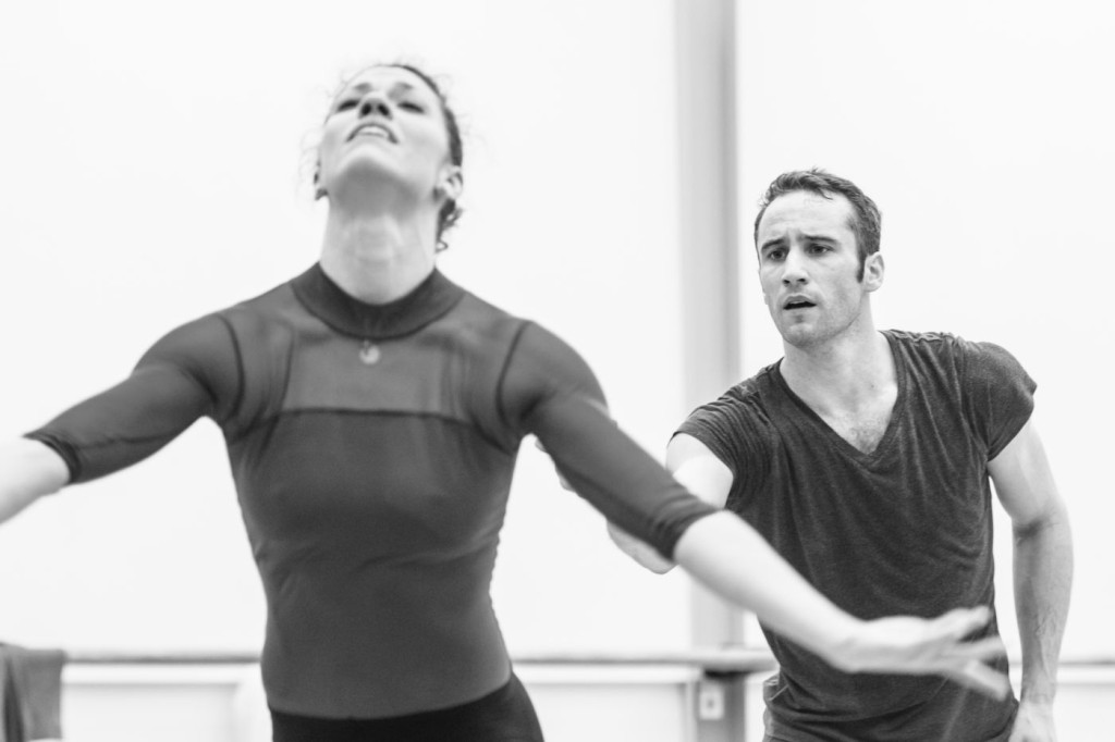 "3. C.Richardson and F.Voranger rehearsing David Dawson's ""Giselle"", photo: Ian Whalen"