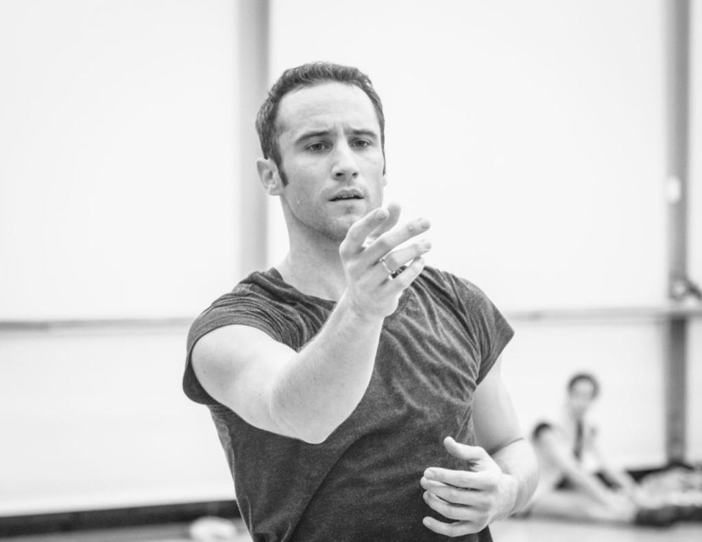 "4. Fabien Voranger rehearsing David Dawson's ""Giselle"", photo: Ian Whalen"