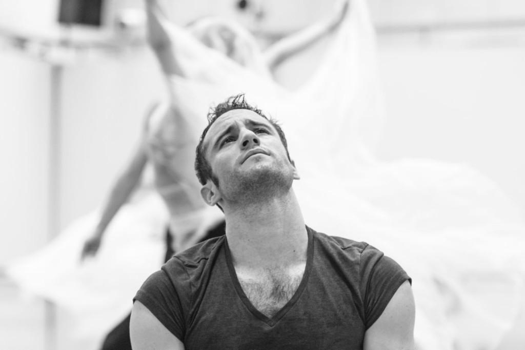 "5. Fabien Voranger rehearsing David Dawson's ""Giselle"", photo: Ian Whalen"