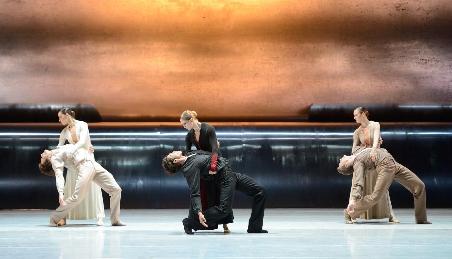 "1. M.Kacerova/F.Vogel, A.Amatriain/J.Reilly, E.Bushuyeva/M.Crockard-Villa, ""Forgotten Land"" by J.Kylián, Stuttgart Ballet 2015"