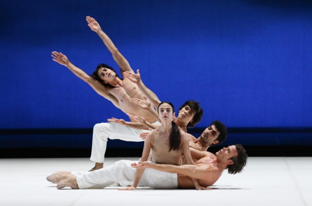 """11. M.Jubete, A.Ferri, A.Trusch, K.Azatyan and C.Jung, """"Duse"""" by J.Neumeier, Hamburg Ballet © H.Badekow 2015"""