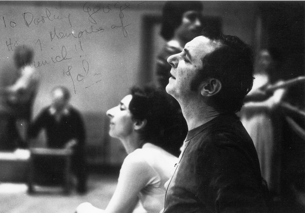 5. G.Tsinguirides and J.Cranko, rehearsal with the Bavarian State Ballet, Munich 1972 © S.Toepffer