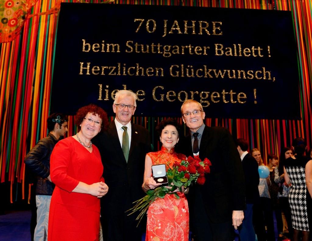11. G.Kretschmann, W.Kretschmann, G.Tsinguirides and R.Anderson, Prize Giving Ceremony December 05, 2015, Stuttgart State Opera © Stuttgart Ballet 2015