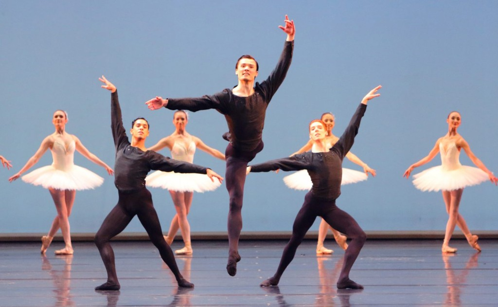 "4. E.Murzagaliyev and ensemble, ""Symphony in C"" by G.Balanchine, Bavarian State Ballet © W.Hösl"