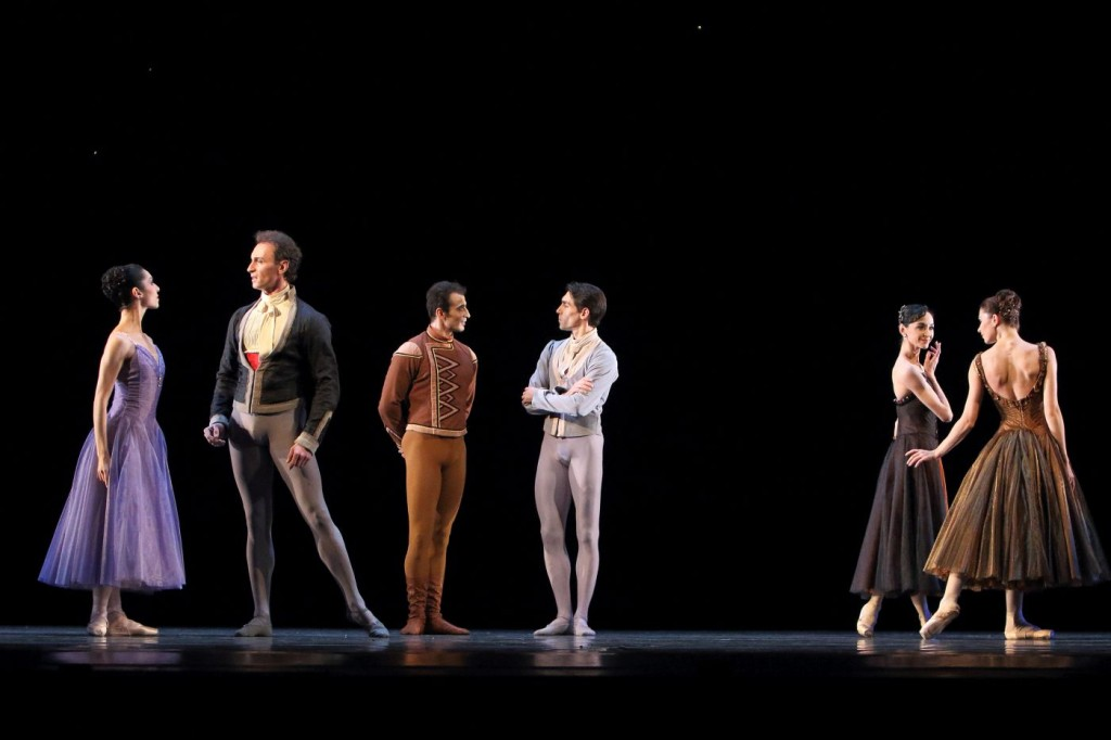 "7. I.Amista, C.Pierre, T.Mikayelyan, J.Amo, L.Lacarra and E.Petina, ""In the Night"" by J.Robbins, Bavarian State Ballet © W.Hösl"