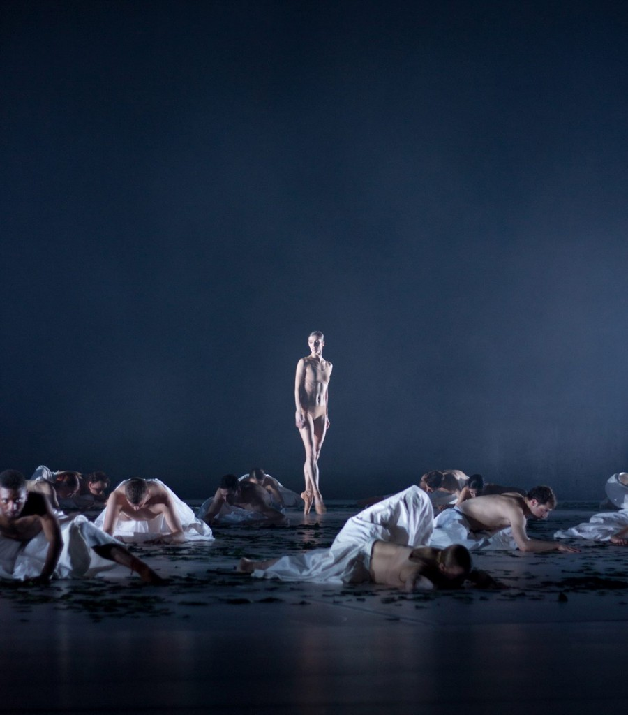 "5. S.Gileva and ensemble, ""COW"" by A.Ekman, Semperoper Ballet © T.M.Rives"