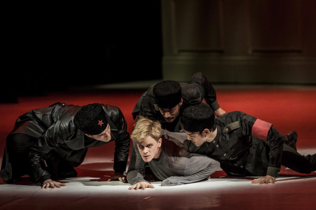 """13. H.M.Mbeng Ndong, K.Yamamoto, L.Zuschlag and L.Žiher, """"Doctor Zhivago"""" by J.Bubeníček, SNG Opera in Balet Ljubljana © D.Štravs Tisu 2016"""