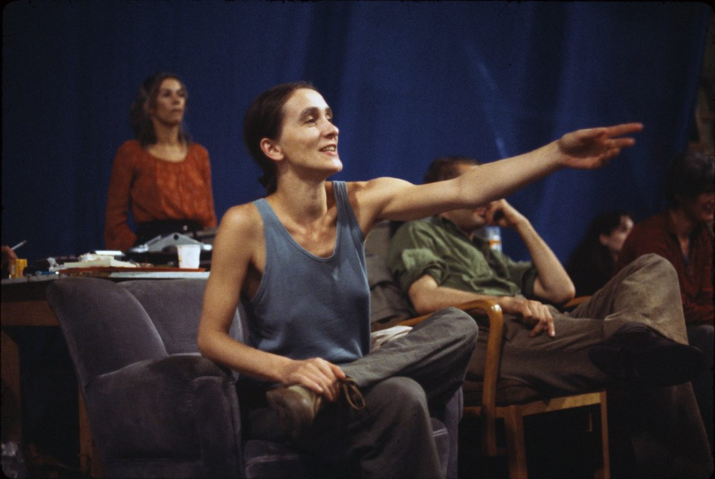 4. P.Bausch, R.Borzik and M.Cito, rehearsal in the Lichtburg Wuppertal, ca. 1978, photo by U.Weiss © Pina Bausch Foundation 2016