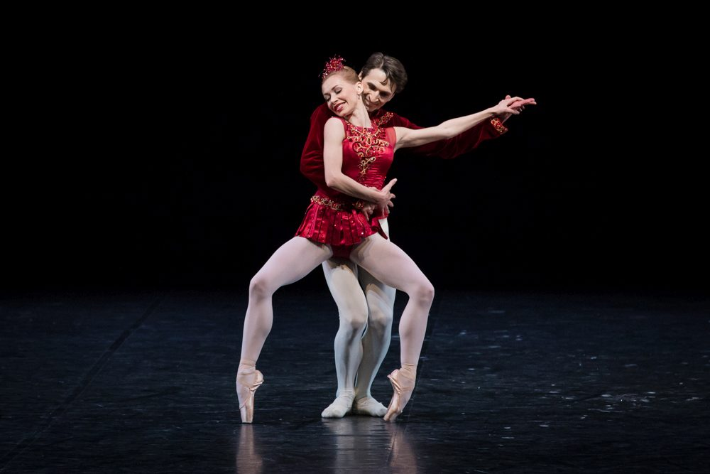 "6. I.Salenko and D.Tamazlacaru, ""Jewels"" by G.Balanchine, State Ballet Berlin © S.Ballone"