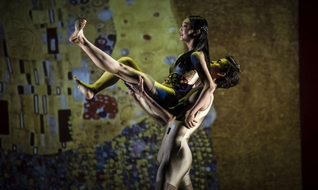 "9. J.Park and A.Soares da Silva, ""Klimt's persuasion"" by A.de Mori; Noverre Society, Young Choreographers © Carlos Quezada"