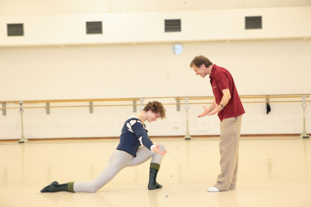 "2. M.Dino and I.Liška, rehearsal of John Cranko's ""The Taming of the Shrew"", Bavarian State Ballet © W.Hösl"