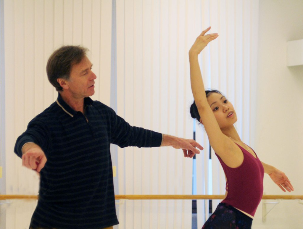 "1. I.Liška and N.Hatano rehearsing the Pas des Odalisques from ""Le Corsaire"", Bavarian State Ballet © C.Tandy"