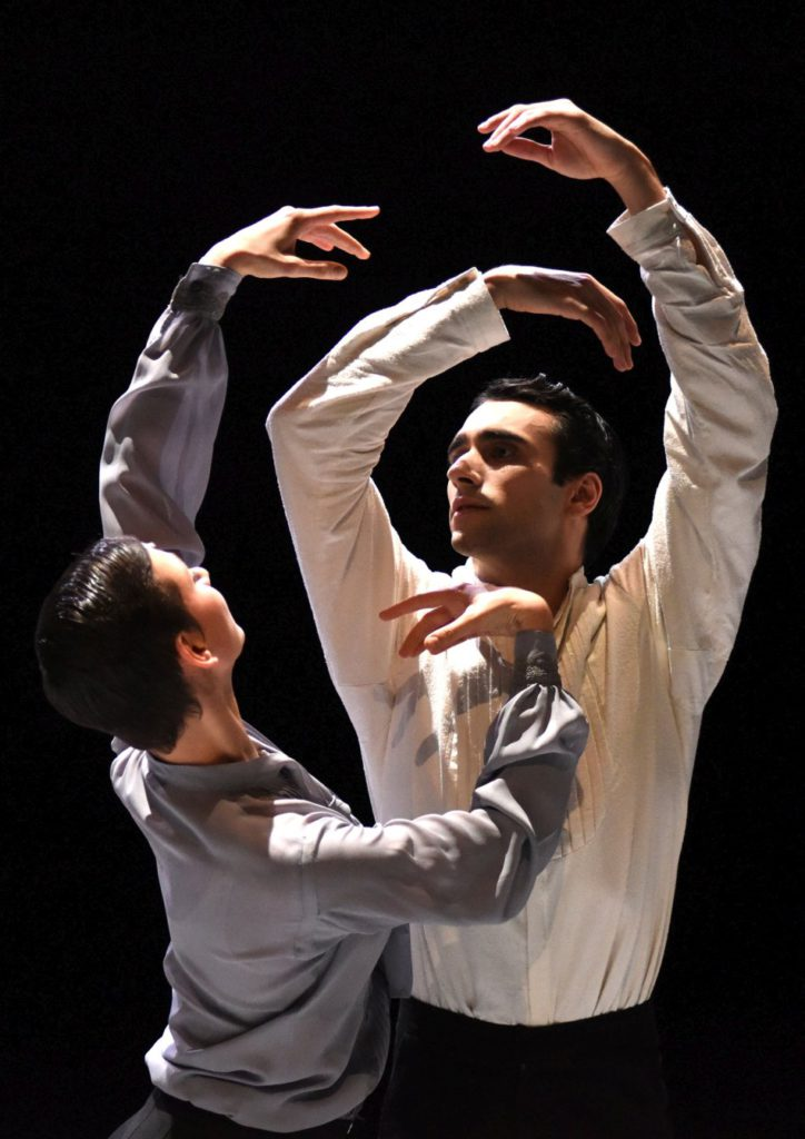 "5. A.La Bella and R.Guerra, ""Nijinski"" by M.Goecke, Gauthier Dance © R.Brocke 2016"