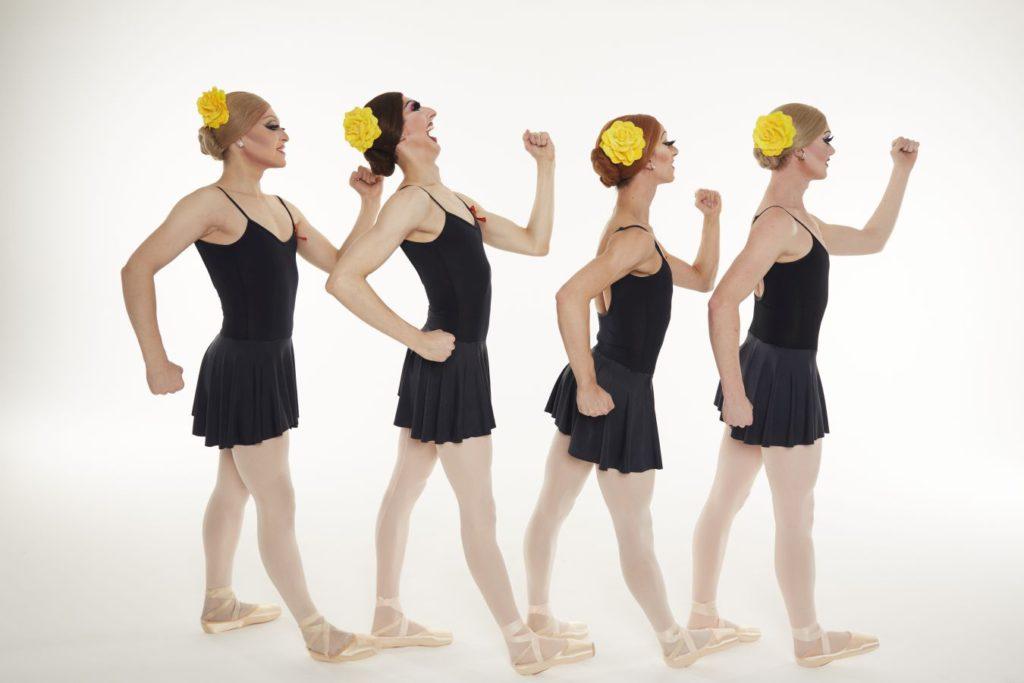 """5. Ensemble, """"Go for Barocco"""" by P.Anastos, Les Ballets Trockadero de Monte Carlo © Z.Jelenic"""