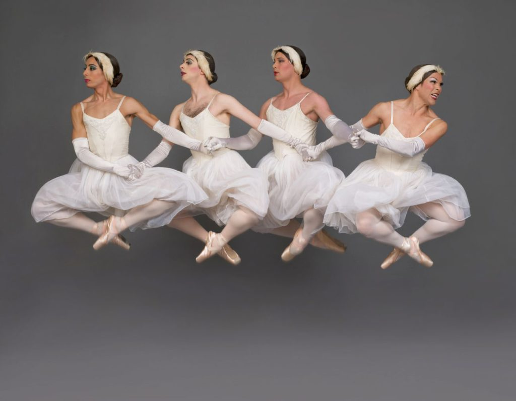 "1. Ensemble, ""Swan Lake"" after L.Ivanov, Les Ballets Trockadero de Monte Carlo © S.Vaughan"