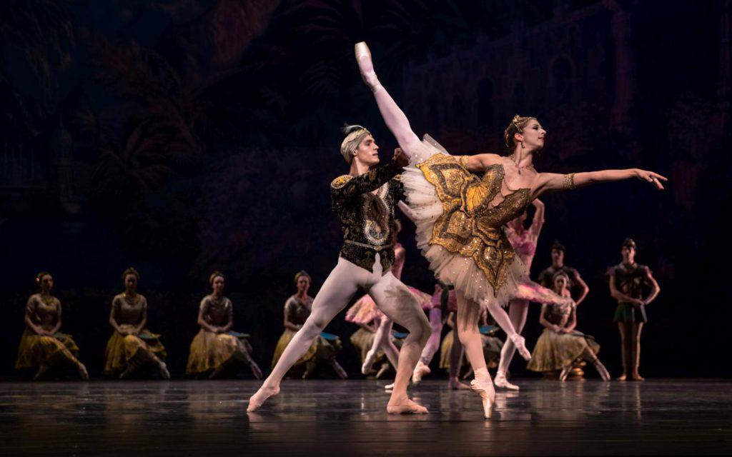 "9. D.Camargo, S.Mukhamedov and ensemble, ""La Bayadère"" by N.Makarova after M.Petipa, Dutch National Ballet © A.Kaftira 2016"
