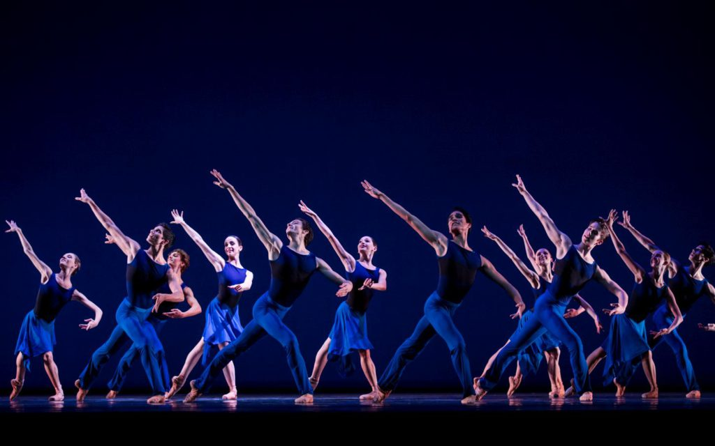 """15. Ensemble of the Junior Company, """"No Time Before Time"""" by E.Meisner, Dutch National Ballet © A.Kaftira 2016"""