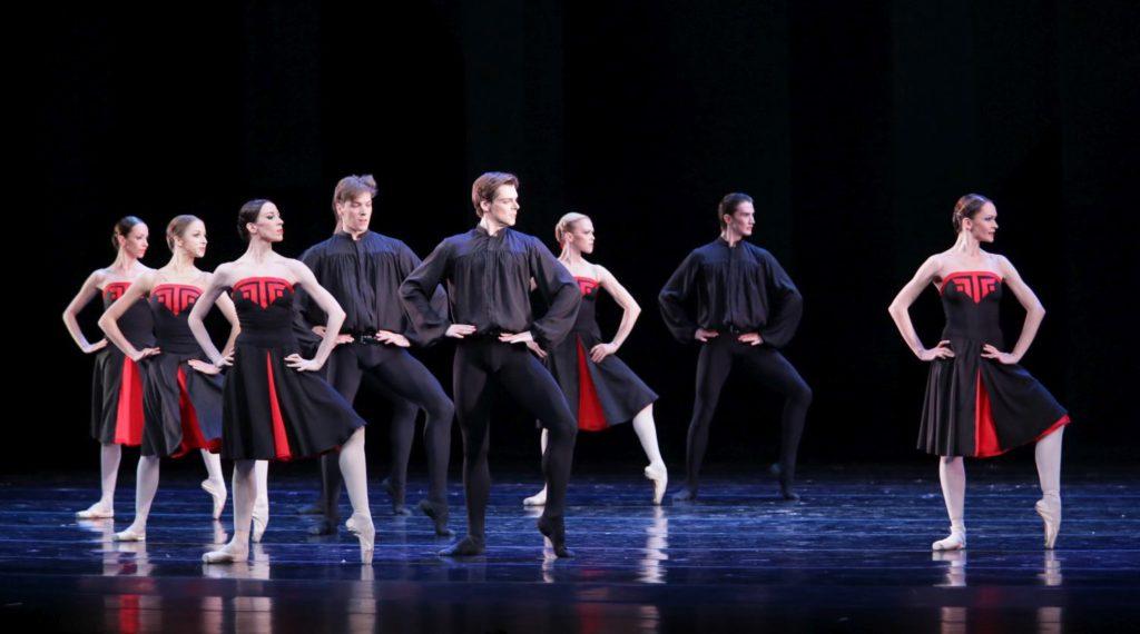 """58. V.Tereshkina, V.Shklyarov, Y.Ivannikova and ensemble, """"5 Tangos"""" by H.van Manen, Maryinsky Ballet © N.Razina / Maryinsky Theatre"""