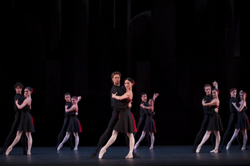"""62. M.Golding, A.Tsygankova and ensemble, """"5 Tangos"""" by H.van Manen, Dutch National Ballet © A.Sterling"""