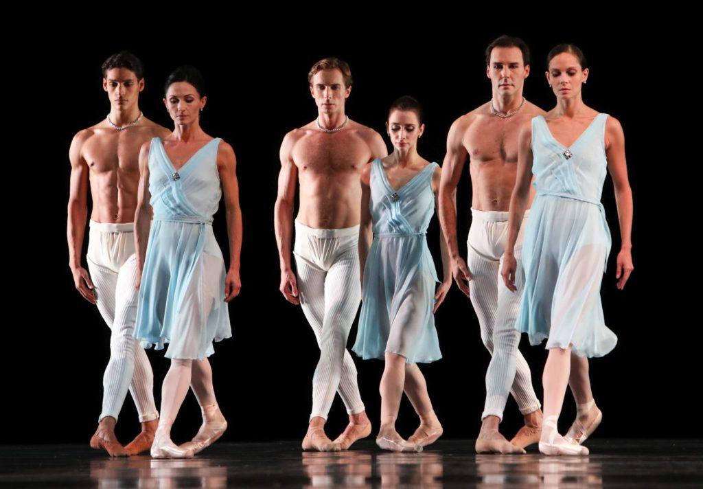 """16. D.Camargo, A.Tsygankova, A.Shesterikov, A.Ol, J.Varga and I.de Jongh, """"Adagio Hammerklavier"""" by H.van Manen, Dutch National Ballet © H.Gerritsen"""