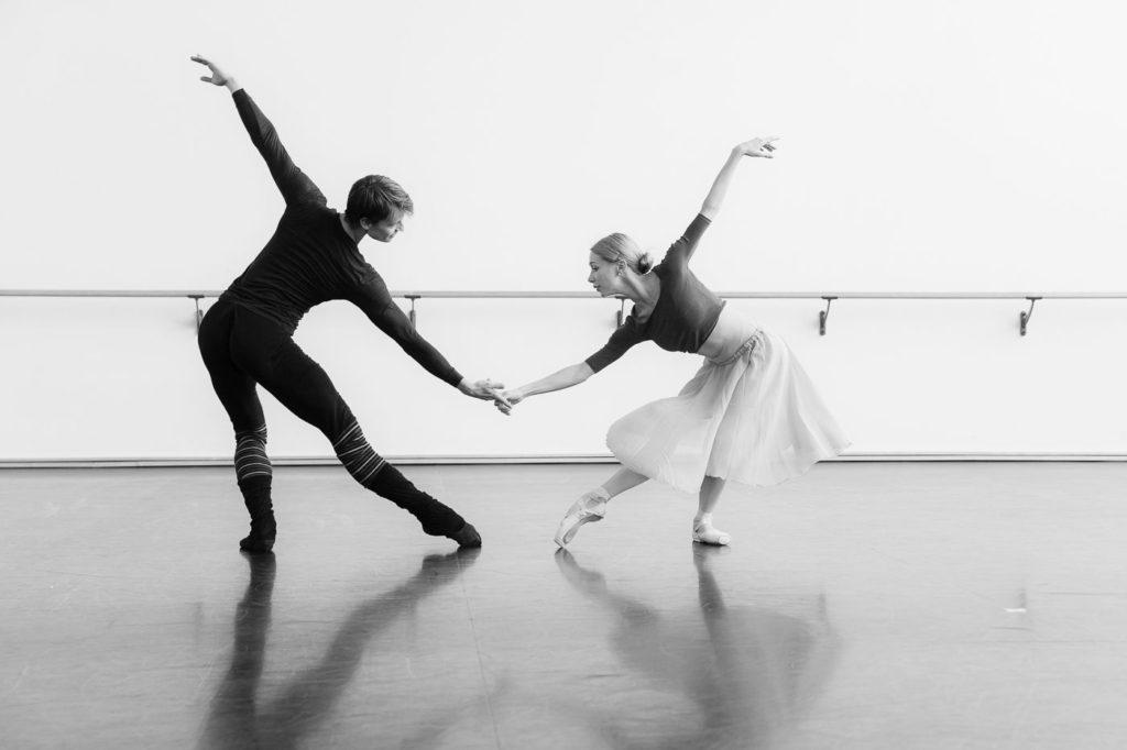 "3. M.Walter and I.Salenko, rehearsal of N.Duato's ""Nutcracker"", State Ballet Berlin © Y.Revazov 2016"