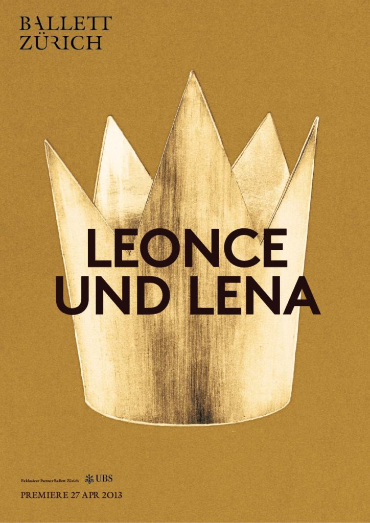 "28. Poster for ""Leonce and Lena"", Ballet Zurich © Ballet Zurich 2016"