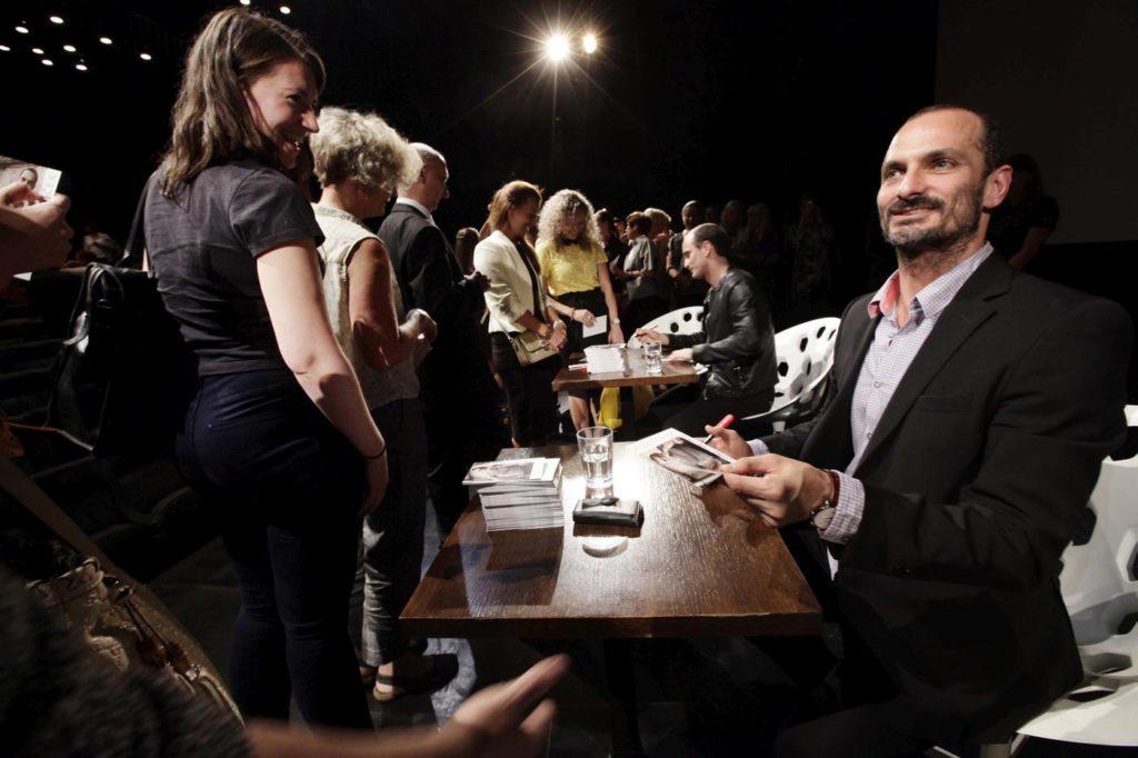 """6. J.Bubeníček at the autograph session, """"Tribute to Otto and Jiří Bubeníček"""", International Television Festival Golden Prague © Czech Television 2016"""