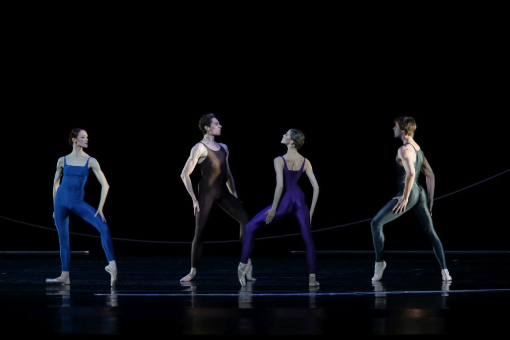 "56. U.Lopatkina, A.Somova, T. Askerov, K.Zverev, ""Variations for Two Couples"" by H.van Manen, Maryinsky Ballet © N.Razina /Maryinsky Theatre"