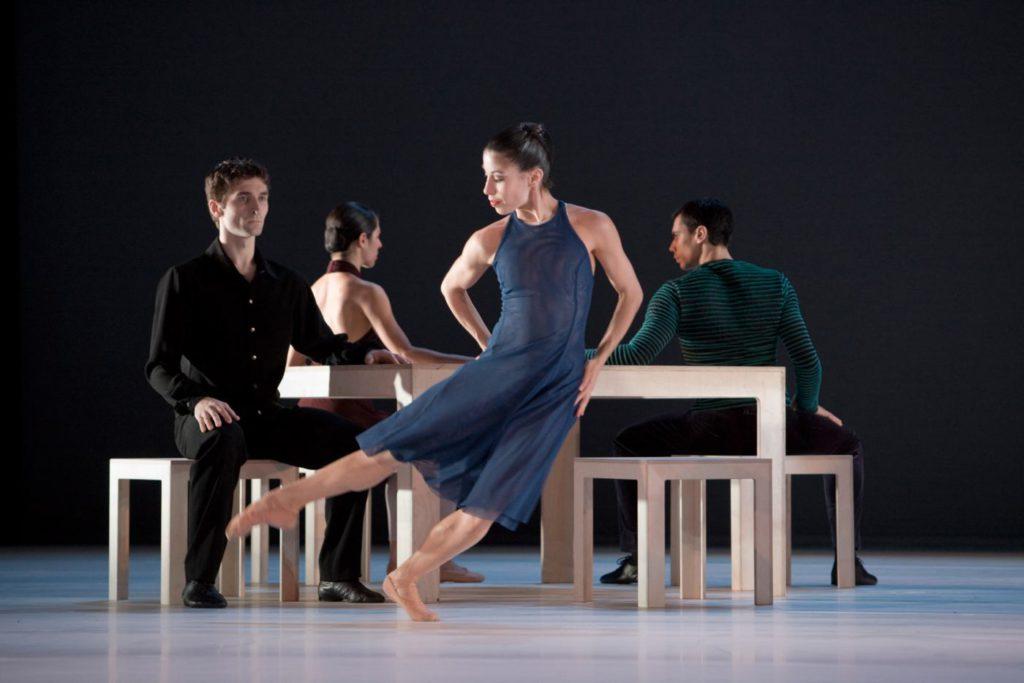 """51. A.Boyetskyy, L.Rachedi, C.Francisco Sorg and O.R.Chacon, """"Compositie"""" by H.van Manen, Ballett am Rhein © G.Weigelt"""