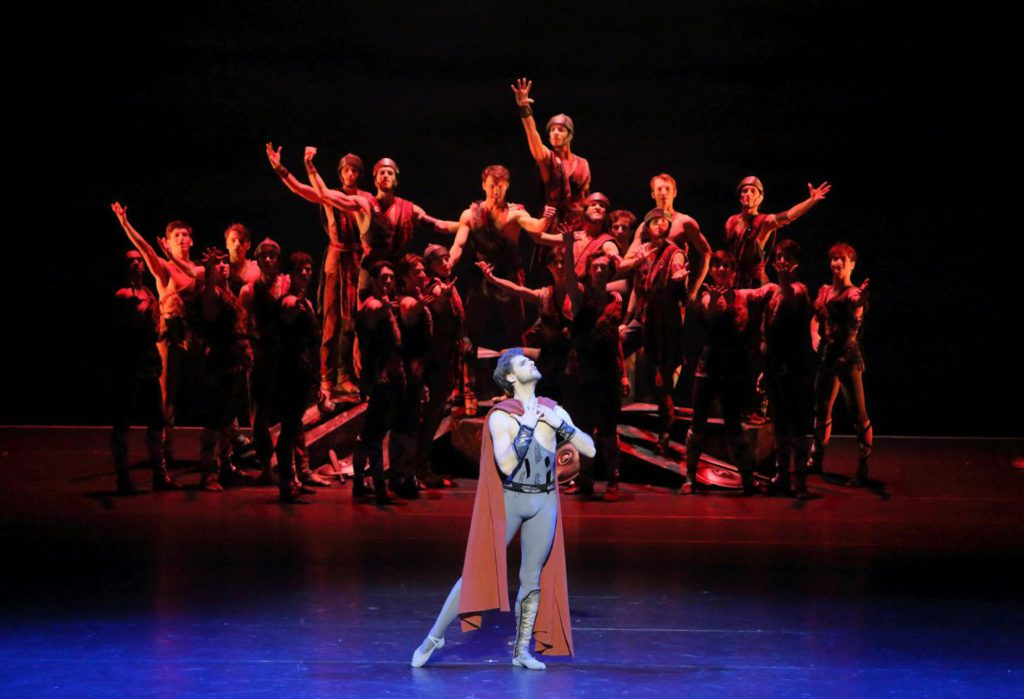 "8. V.Shklyarov and ensemble, ""Spartacus"" by Y.Grigorovich, Bavarian State Ballet © W.Hösl 2016"