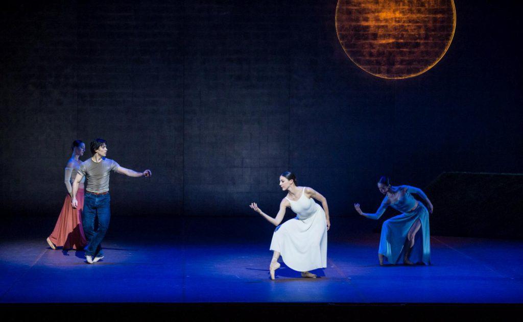 "13. A.Trusch, H.Bouchet, L.Heylmann and X.Lin, ""The Song of the Earth"" by J.Neumeier, Hamburg Ballet © S.Ballone 2016"