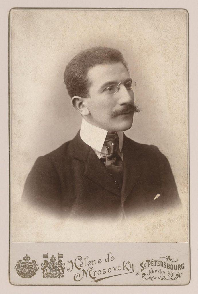 4. Portrait of L.Bakst, St.Petersburg 1890 © BnF, département de la Musique, Bibliothèque-musée de l'Opéra